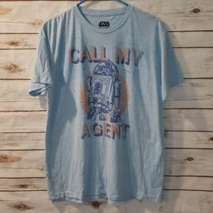 Star Wars R2D2 Call My Agent Men's Size L